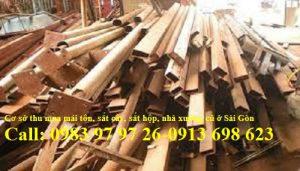 Thu mua mái tôn, sắt cây, sắt hộp, nhà xưởng ở tại Sài Gòn, Tp.HCM